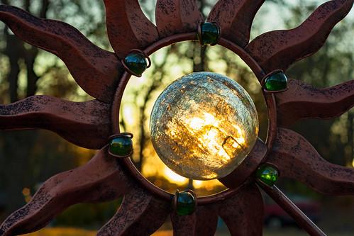 sunset frame bokeh sun metal dof silhouette glow light glass cracked crackle