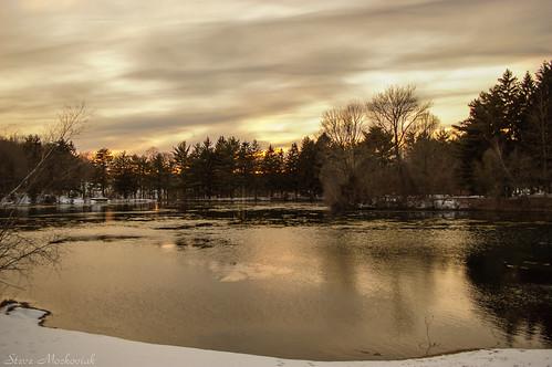 smack53 melodylake westmilford newjersey water lake pond palpond reflections snow trees sunset clouds cloudy winter wintertime winterseason winterscenery nikon d100 nikond100