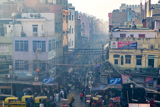 Rooftop Observers | Old Delhi, India | by t linn