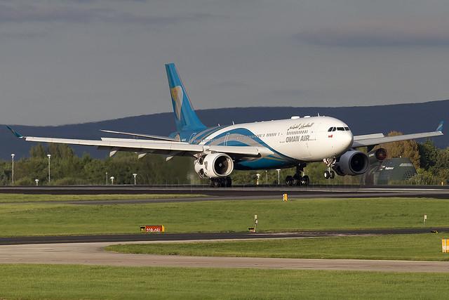 A4O-DA Oman Air A330-200 Manchester Ringway Airport