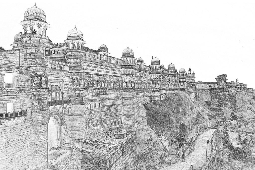 India - Madhya Pradesh - Gwalior Fort - Man Singh Palace