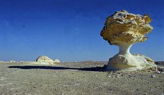 Stone Mushroom in White Desert. Qasr. Al-Farafra. Egypt. Free Stock Photo