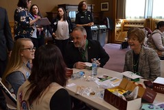 Reps. Vail and Zawistowski speaking with Girl Scouts vising the Capitol