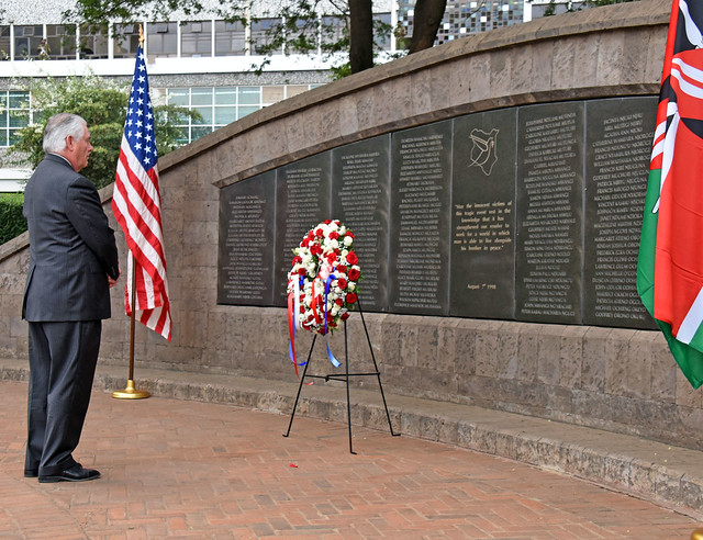 Secretary Tillerson Honors Those Lives Lost and Injured in the 1998 Terrorist Bombing at the U.S. Embassy in Kenya