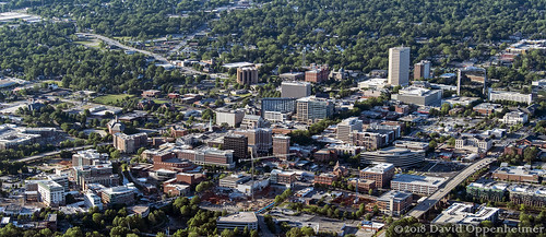 greenville southcarolina downtown realestate city sc greenvillecounty cityscape buildings aerial greenvilleaerial travel view spring sunny architecture unitedstates usa