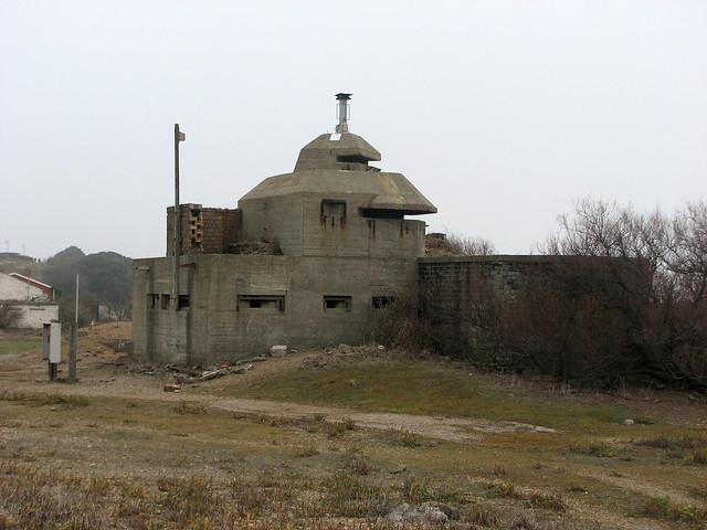 Old World War II remains at Felixstowe
