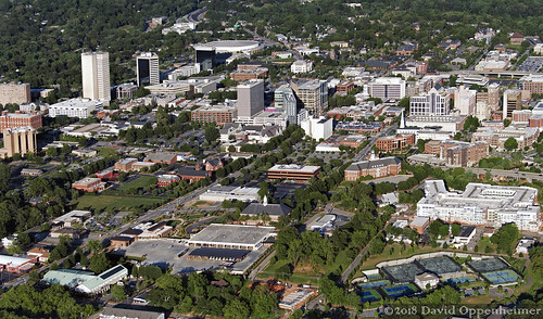 greenville southcarolina downtown realestate city sc greenvillecounty cityscape buildings aerial greenvilleaerial travel view spring sunny architecture kroctenniscenter southernside unitedstates usa