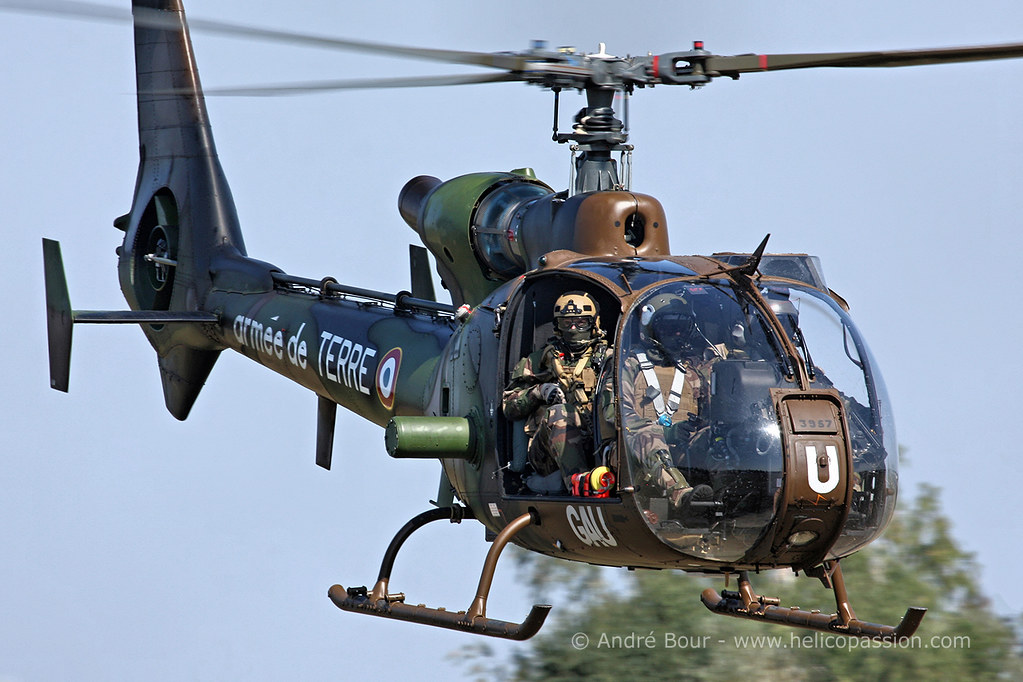 French Army Aviation (ALAT) SA342 Gazelle helicopter in ac… | Flickr