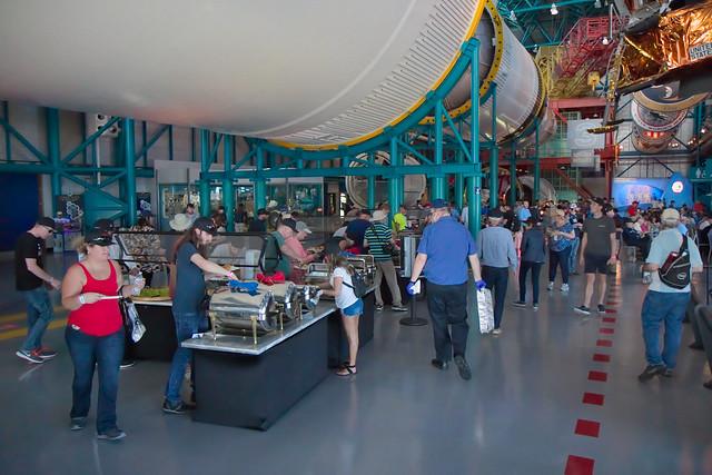 Food under a Saturn V