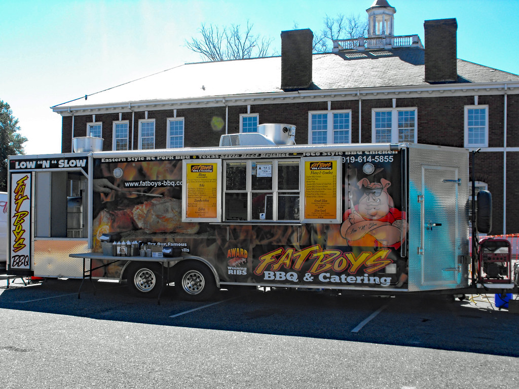 Fat Boys Food Trailer  | Barbecue trailer at the Rumba on th