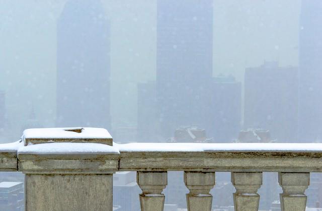Montréal jour de brouillard et de neige / Day of fog and snow