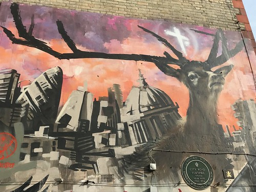 London destroyed by giant stag | by Matt From London