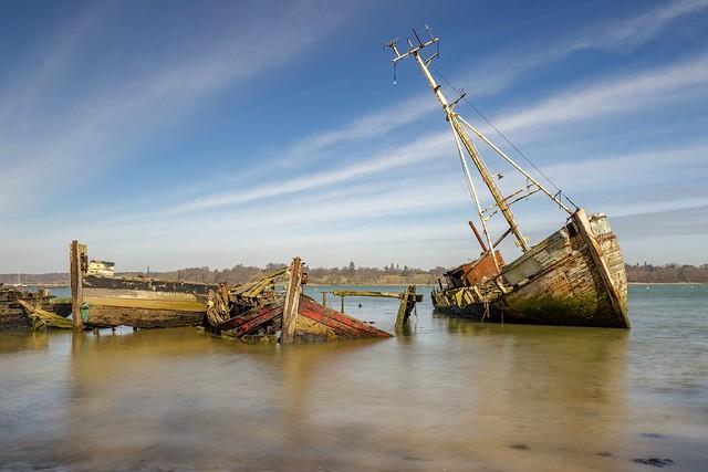 Wrecks, Pin Mill, Suffolk