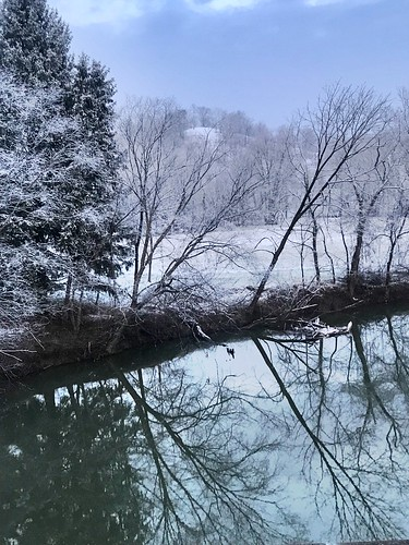 wildwonderfulwestvirginia hills snow winter river water reflections westvirginia wv mudriver