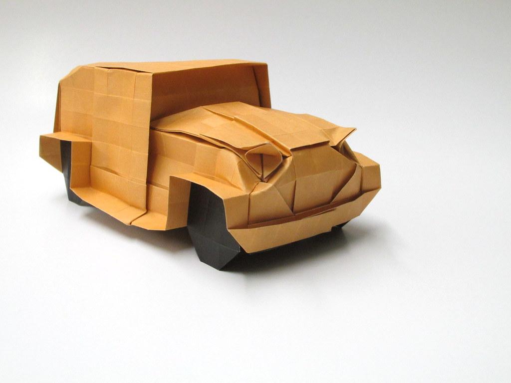 Origami Car Tutorial (mobil/kereta/Auto/Voiture/Coche/سيارة/車 ... | 768x1024