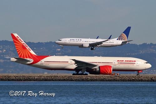 unitedairlines united airindia n87531 vtalf boeing737 boeing777 boeing737800 boeing777200 boeing737824 boeing777200lr boeing777237lr boeing 737 777 737800 777200 737824 777200lr 777237lr b738 b77l ksfo sfo sanfranciscointernationalairport sanfranciscoairport sanfrancisco