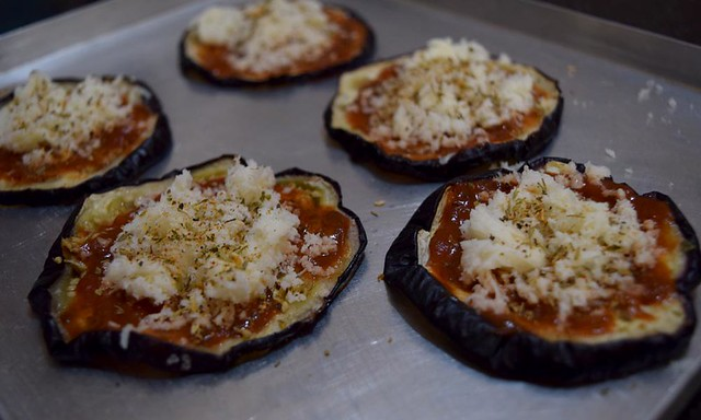 Eggplant Pizza Before baking