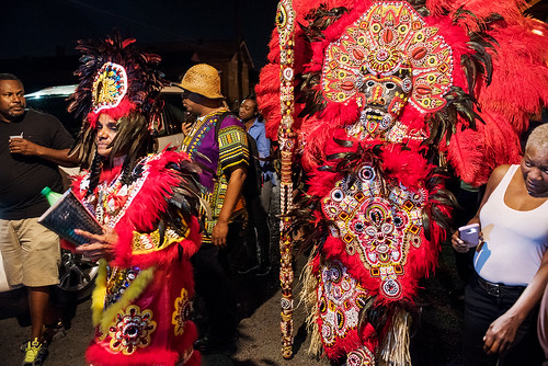 08 - Fi-Yi-Yi Big Queen Kim and Big Chief Victor Harris on Saint Joseph's Night in New Orleans on March 19, 2018. photo by Ryan Hodgson-Rigsbee RHRphoto.com
