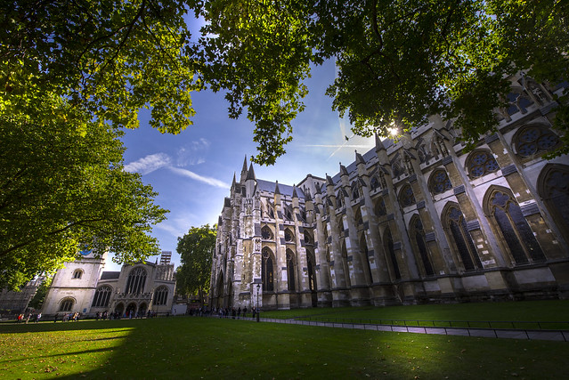 Special view to Westminster Abbey - London - England