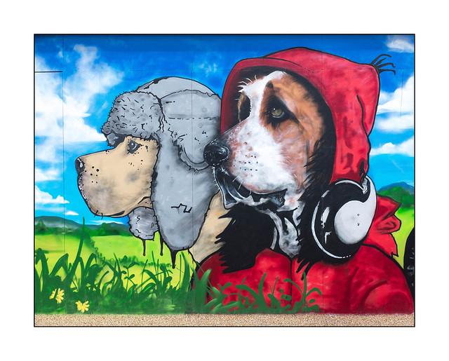 Street Art (Teddy Baden), East London, England.