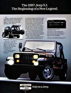 1987 Jeep YJ (Canada)