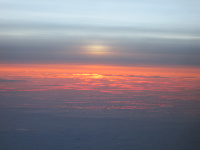 From the 'plane window