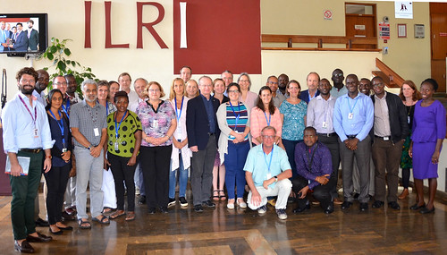Mar/2018 - Officials from the German Federal Research Institute for Animal Health, the Federal Institute for Risk Assessment (BfR), and the Institute of Parasitology and Tropical Veterinary Medicine of the Free University of Berlin, visited ILRI 27 February–1 March 2018 (photo credit: ILRI/Wilson Maina).
