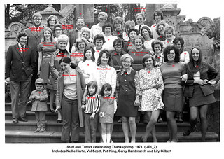 UE1_7 Photo of staff and tutors 1971_names | by Harlaxton College Library