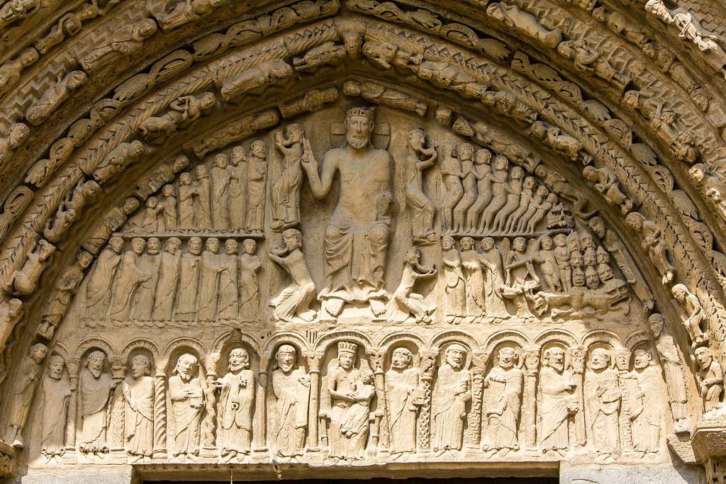 Juicio final La Virgen y el Niño apostoles timpano Portada… | Flickr