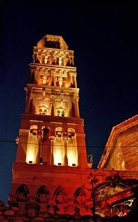 Bell Tower Hvar. Croatia. Stock Photo