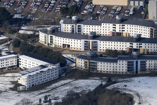 UEA student accommodation aerial