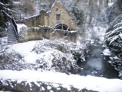 Jesmond Dene Watermill (Snow)