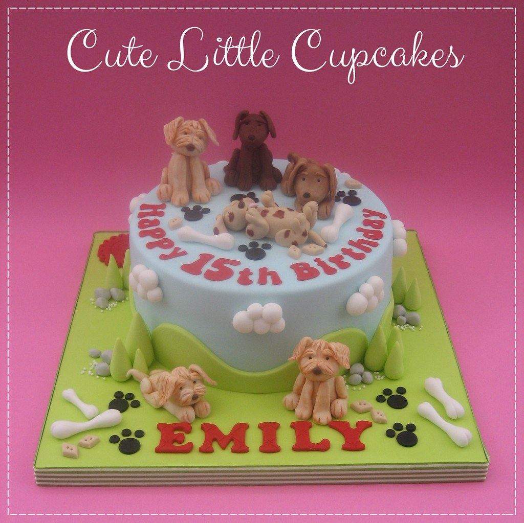 Terrific Dog Themed Birthday Cake Heidi Stone Flickr Funny Birthday Cards Online Fluifree Goldxyz