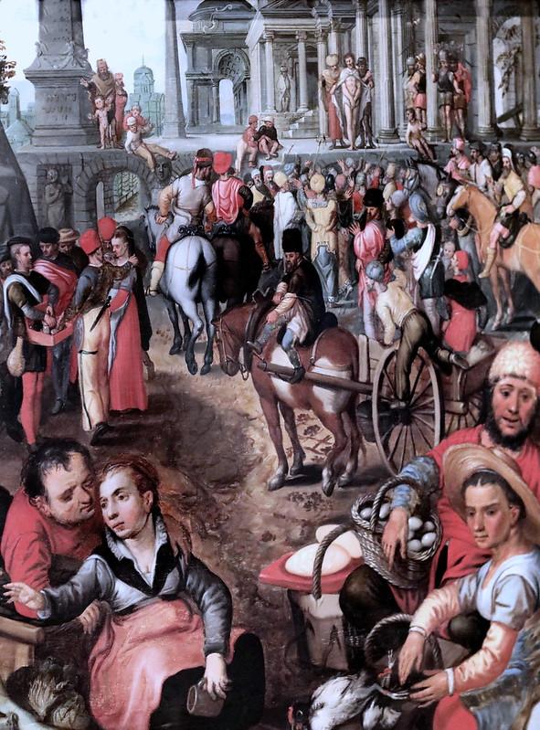 IMG_3006W Joachim Beuckelaer 1530-1574 Anvers   Marché avec l'Ecce Homo. Market with Ecce Homo vers 1561  Nancy Musée des Beaux Arts