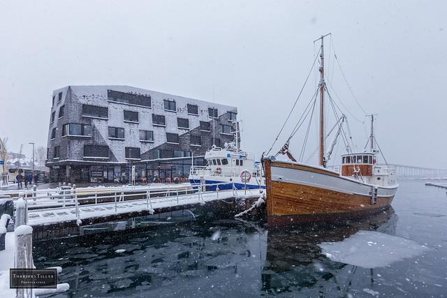 Snowing in Tromsø