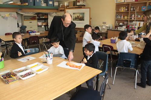 Bishop Walkowiak visits San Juan Diego Academy