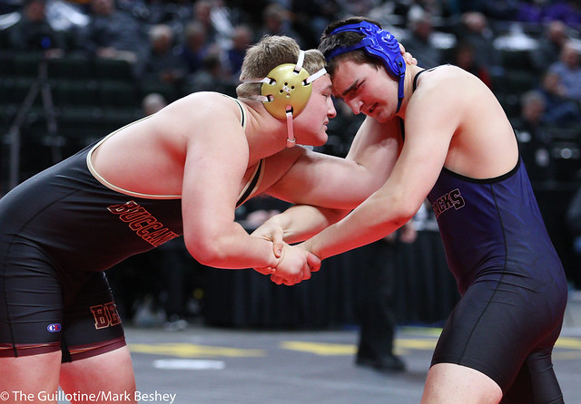 285A 3rd Place Match - Trevor Oppedal (Blue Earth Area) 34-6 won by decision over Mitchell Oswald (Westfield Razorbacks) 34-7 (Dec 4-3) - 180303bmk0165