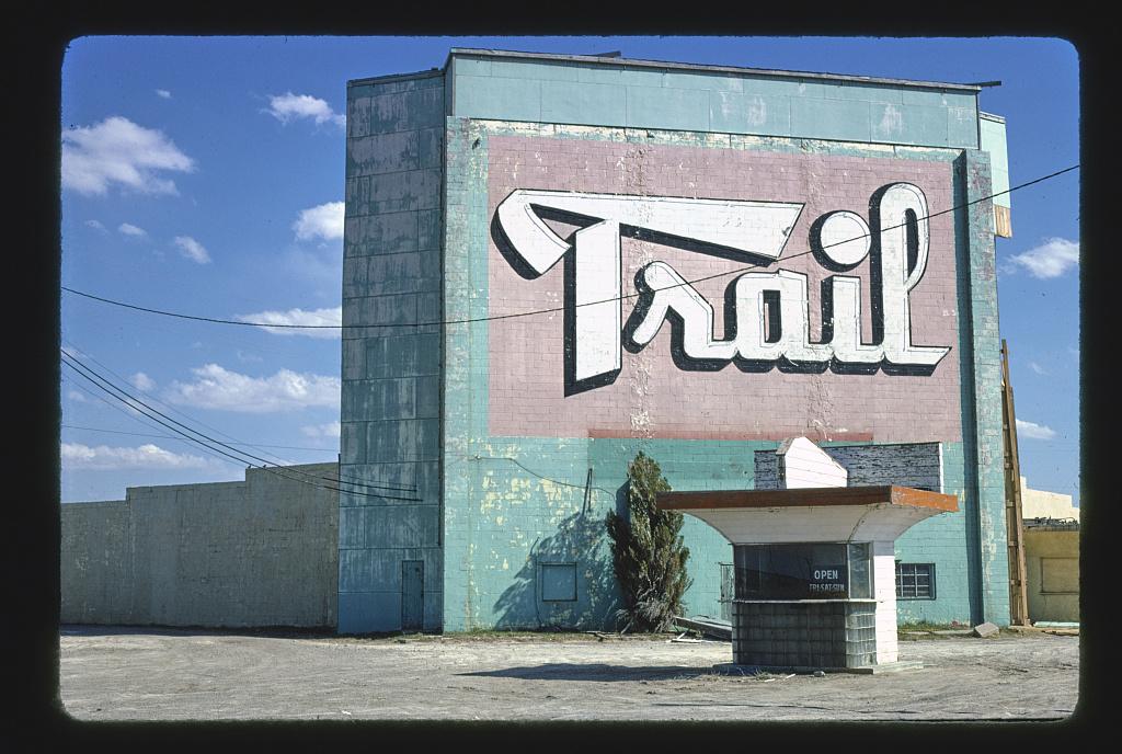 Trail Drive-In Theater, closer view, Route 66, Amarillo, Texas (LOC)
