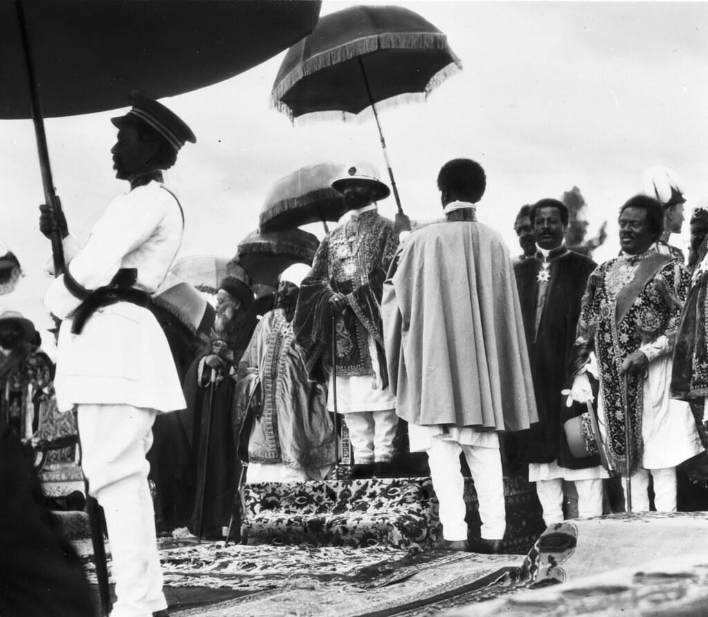 Haile Selassie under an Ornate Umbrella at his Coronation,… | Flickr