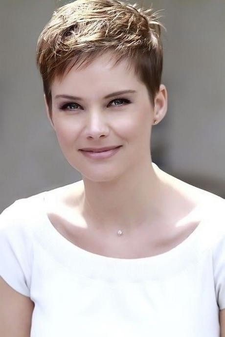 Short Pixie Hairstyles For Thick Hair Inside Well Liked Sh