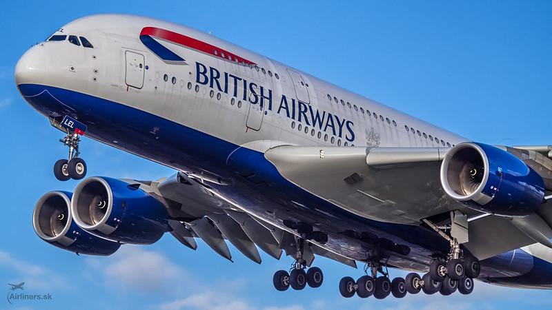 G-XLEL British Airways Airbus A380-841