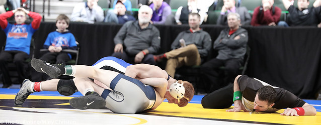 3rd Place Match - Robby Horsman (Kasson-Mantorville) 42-9 won by fall over Jake Fitzpatrick (Mahtomedi) 51-6 (Fall 3:16). 180303BMC5774