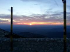 Final descent sunset