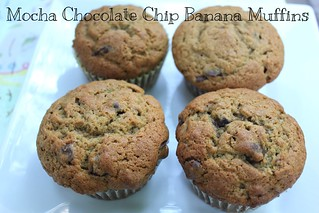 Mocha Chocolate Chip Banana Muffins | by NY Foodie Family