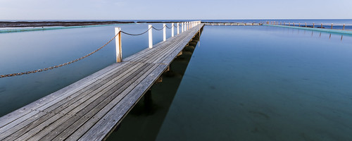 pool water ocean blue still longexposure jetty lines geometry narrabeen narrabeenpool panorama wideangle wood sunset bluehour nikond7000 sigma1020mm flickrfriday heavenonearth