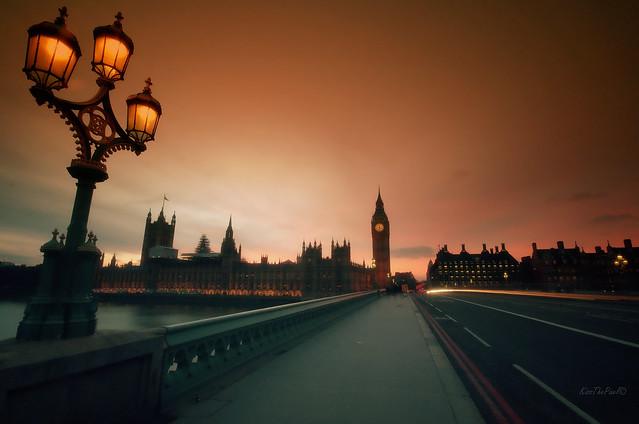 Sunset over Westminster..