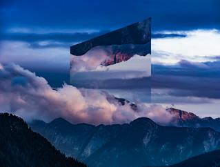sunrise in slovenian mountains
