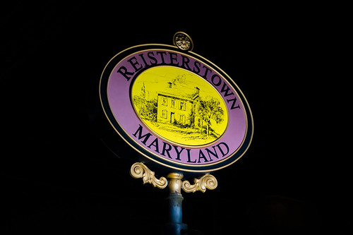 maryland reisterstown sign night nightphotography