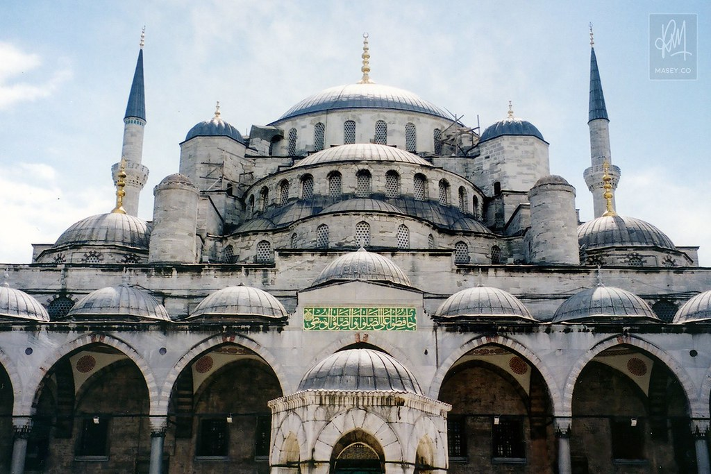 A perspective of the Blue Mosque