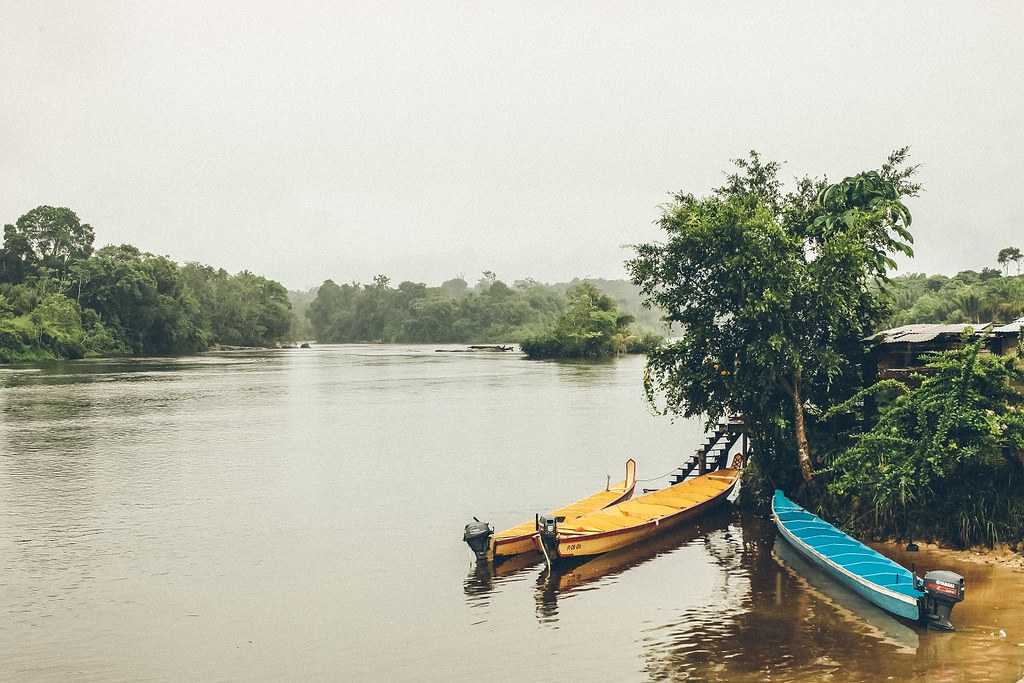 ...along Suriname River